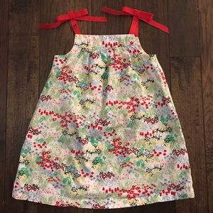 Hanna Andersson Floral Tank Dress.  Size 80/2T
